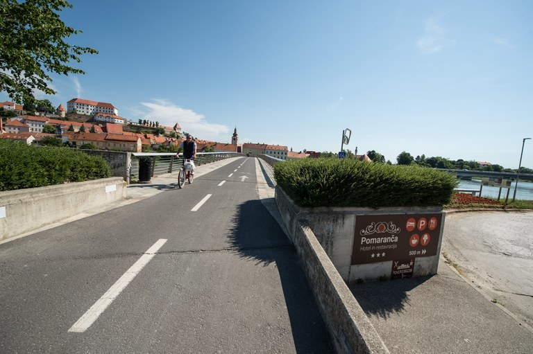 EU funding for the development of pedestrian and cycling infrastructure in Ptuj